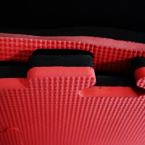 JIGSAW MATS 20mm Premium Quality, for Martial Arts, High Density Red/Black for Fitness and Exercise
