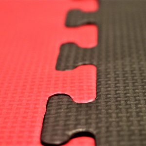 JIGSAW MATS 40mm Red/Black martial arts fitness exercise Medium Density 1m x 1m superb quality BJJ MMA