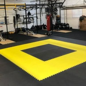 JIGSAW MATS 20mm Premium martial arts fitness exercise High Density 1m x 1m EPiC Yellow / Black superb quality