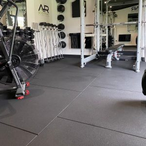 RUBBER FLOORING GYM TILES 1m x 1m x 20mm Natural Rubber Mats Crossfit, Weights, Fitness perfect for home or Commercial Gyms