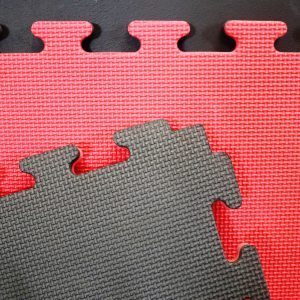 JIGSAW MATS 20mm for Martial Arts, Premium Quality, High Density Red/Black for Fitness and Exercise