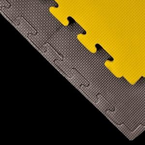JIGSAW MATS 20mm Yellow/Black Premium martial arts fitness exercise High Density 1m x 1m EPiC superb quality