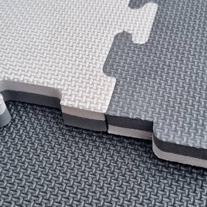 JIGSAW MATS 20mm Grey/Black Premium Quality, for Martial Arts, High Density for Fitness and Exercise